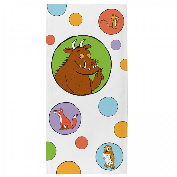 The Gruffalo 'All Is Quiet' Velour Printed Beach Towel