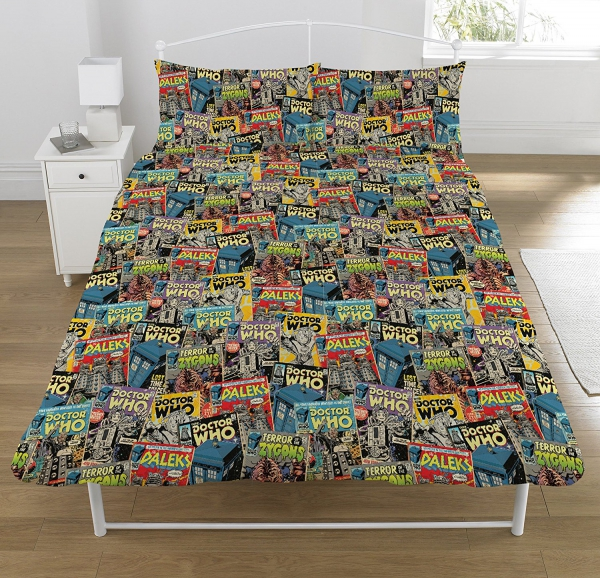 Doctor Who 'Comic' Rotary Double Bed Duvet Quilt Cover Set