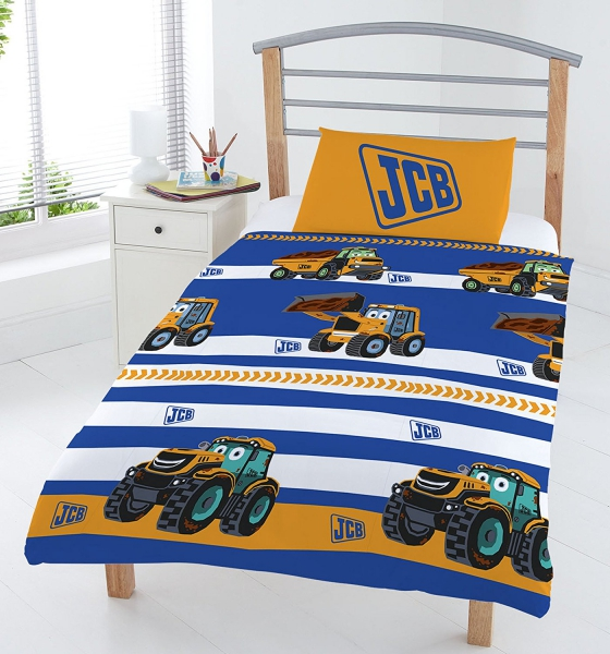 Jcb 'Stripe' Rotary Junior Cot Bed Duvet Quilt Cover Set