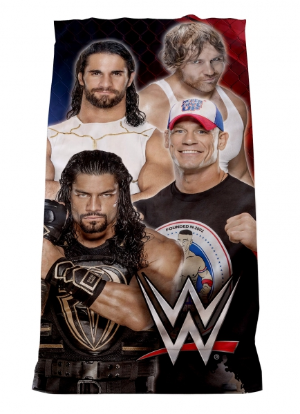 WWE 'Super 4' Velour Printed Beach Towel