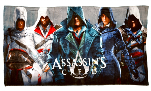 Assassin' S Creed Printed Beach Towel