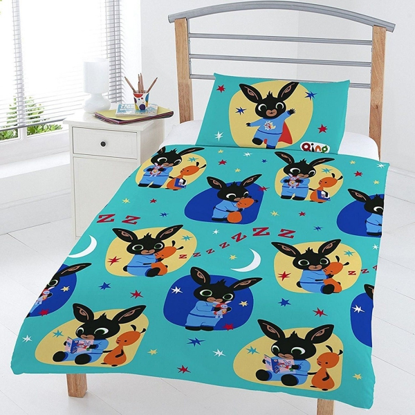 Bing Bunny Polycotton Rotary Junior Cot Bed Duvet Quilt Cover Set