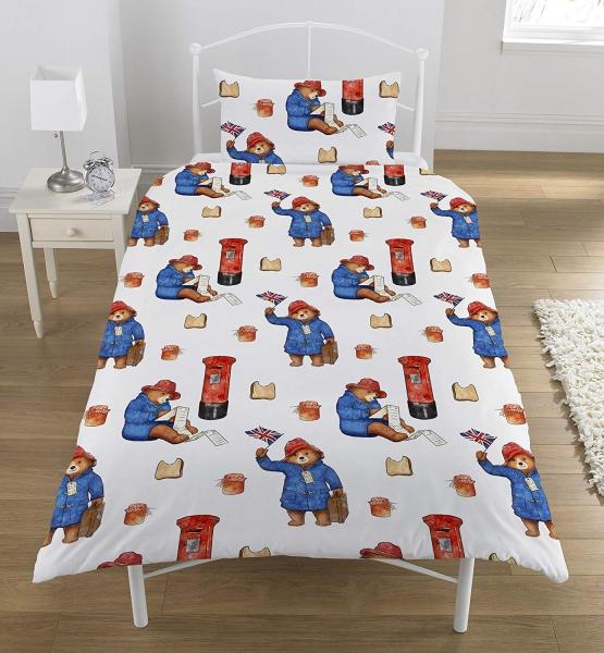 Paddington Bear Postbox Rotary Single Bed Duvet Quilt Cover Set