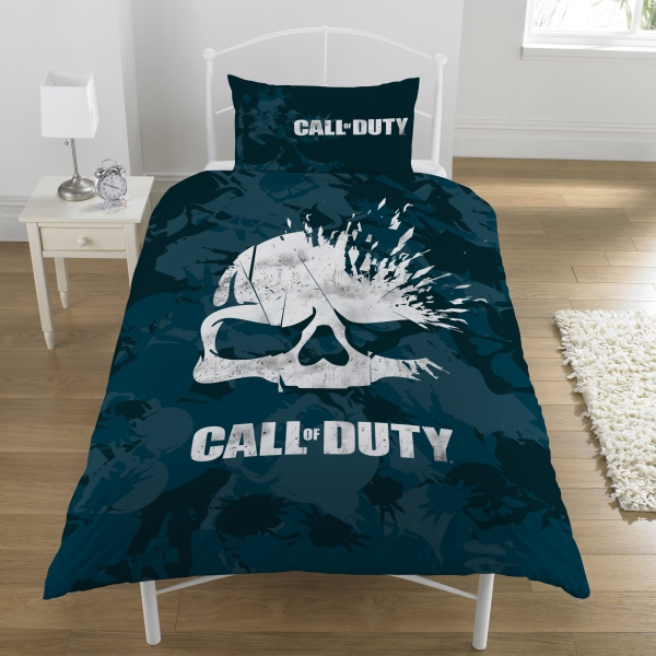 Call of Duty 'Broken Skull' Panel Single Bed Duvet Quilt Cover Set