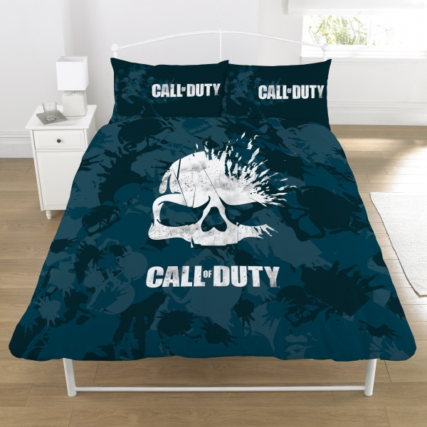 Call of Duty 'Broken Skull' Panel Double Bed Duvet Quilt Cover Set