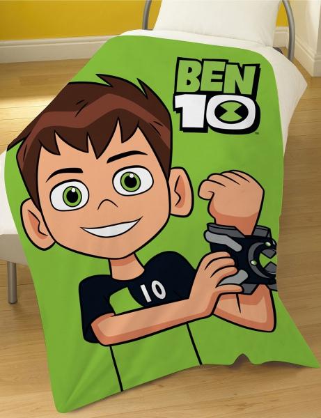 Ben 10 'Go Hero' Panel Fleece Blanket Throw