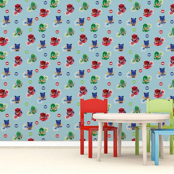 Pj Masks Heroes Wall Paper Decoration