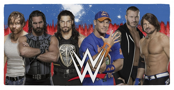 WWE ' Raw vs Smackdown Multi Colour Printed Beach Towel