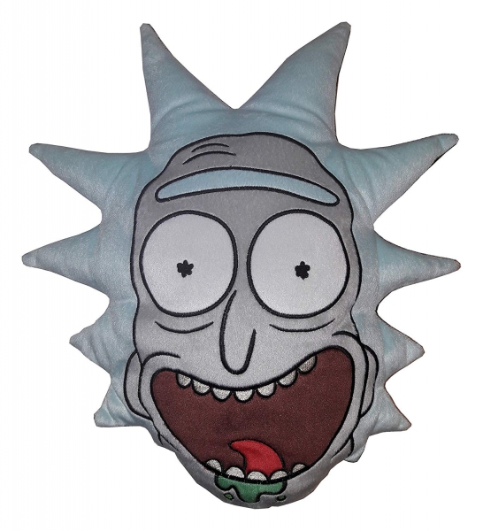 Rick and Morty Grey Multi Embroidered Cushion