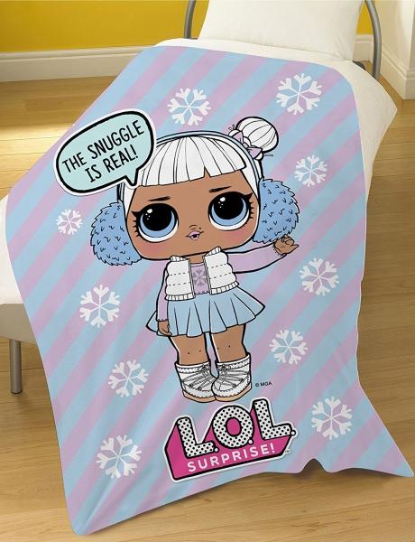 L.o.l. Surprise Snow Angel Panel Fleece Blanket Throw