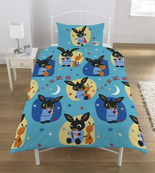 Bing Bunny Pollycotton Rotary Single Bed Duvet Quilt Cover Set
