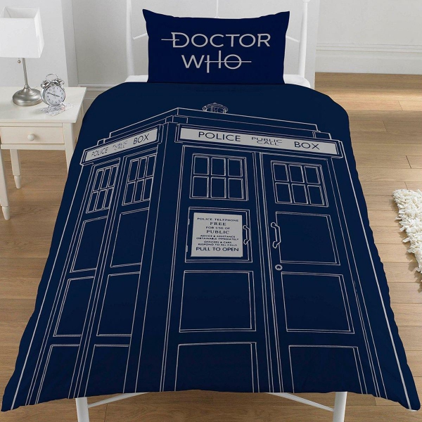 Doctor Who Classic Tardis Panel Single Bed Duvet Quilt Cover Set