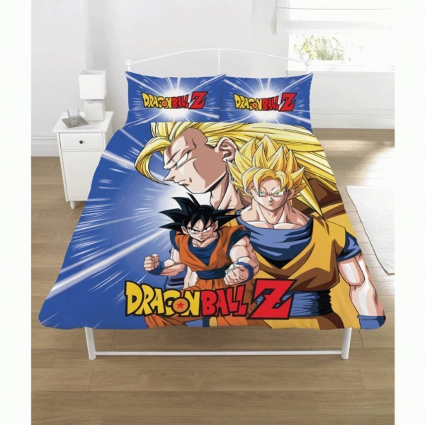 Dragon Ball Z Battle Panel Double Bed Duvet Quilt Cover Set
