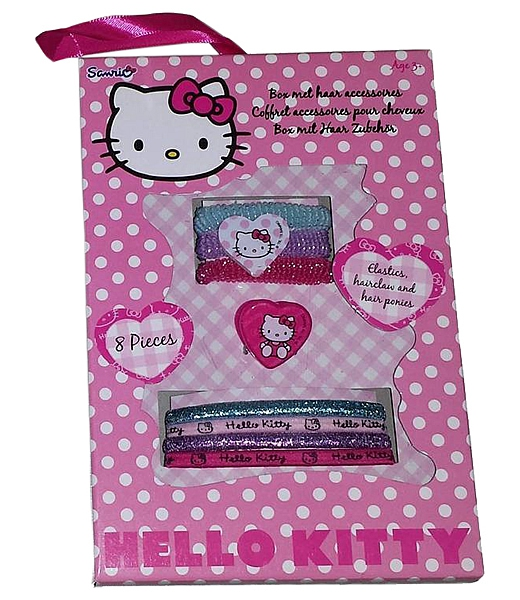 Disney Hello Kitty New 8pk Hair Accessory Set Girls Accessories