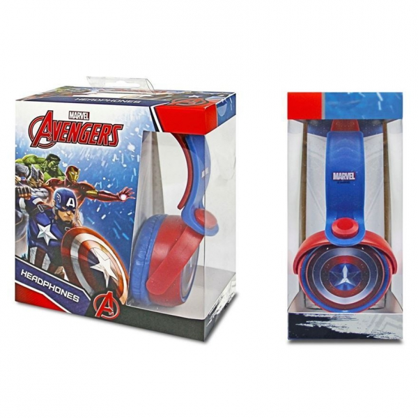 Captain America 'Shield' Dj Style Headphones Computer Accessories