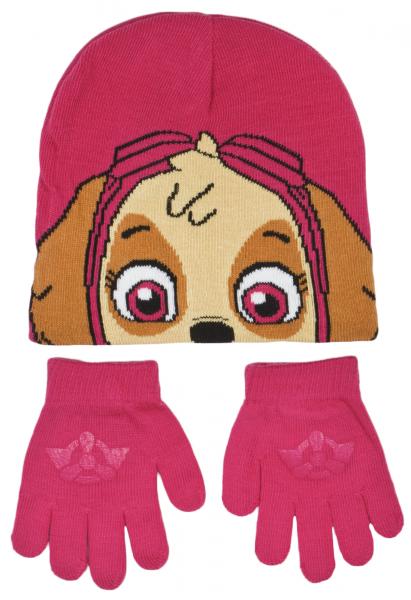 Paw Patrol Girls 'Skye' 2 Piece Winter Set Hat & Glove One Size Kids Accessories