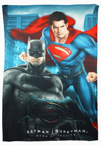 Batman vs Superman 'Action' Panel Fleece Blanket Throw
