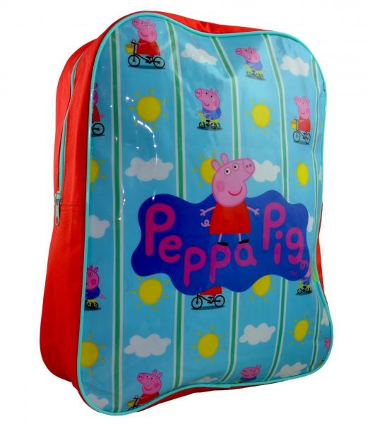 Peppa Pig 'Bicycle' Arch School Bag Rucksack Backpack