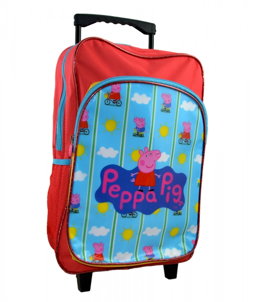 Peppa Pig 'Bicycle' School Travel Trolley Roller Wheeled Bag