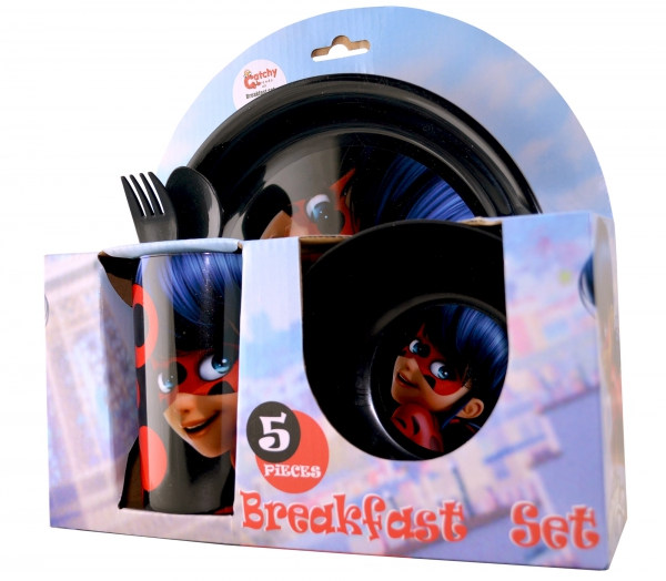 Miraculous 'Ladybug' 5 Piece Breakfast Dinner Set