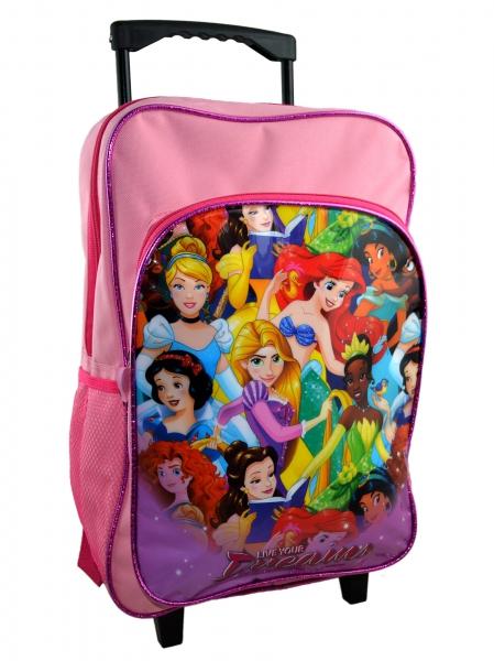 Disney Princess 'Live Your Dreams' School Travel Trolley Roller Wheeled Bag