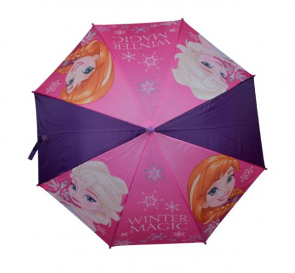 Disney Frozen 'Purple' Full Panel Automatic School Rain Brolly Umbrella