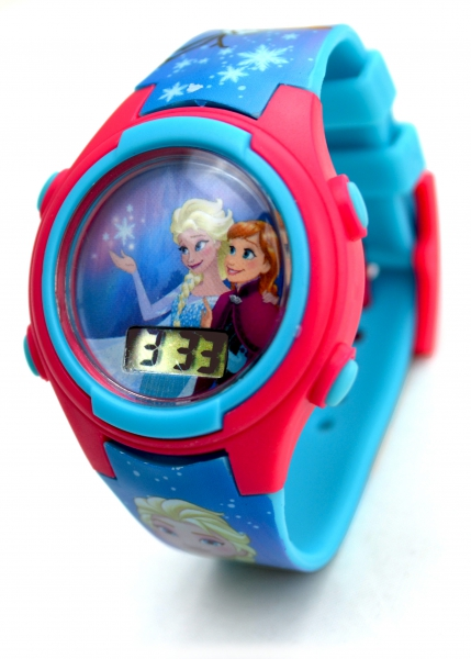 Disney Frozen Anna & Elsa 'Digital Metal Tin Gift' Wrist Watch