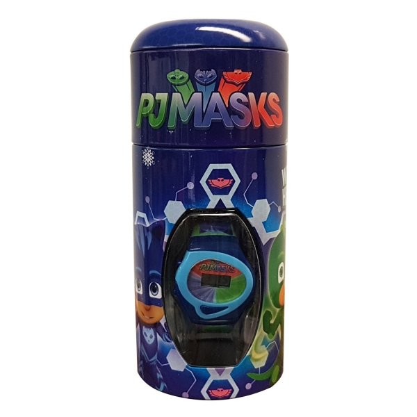 Disney Pj Masks Boys Digital Metal Money Coin Tin Gift Wrist Watch