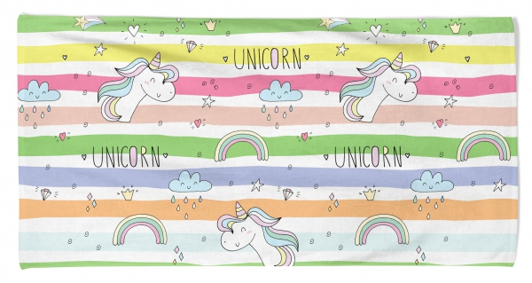Kid's Beach Towel Unicorn Rainbow Printed