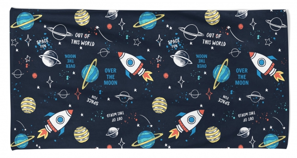 Kid's Beach Towel Space 'Out of This World' Printed
