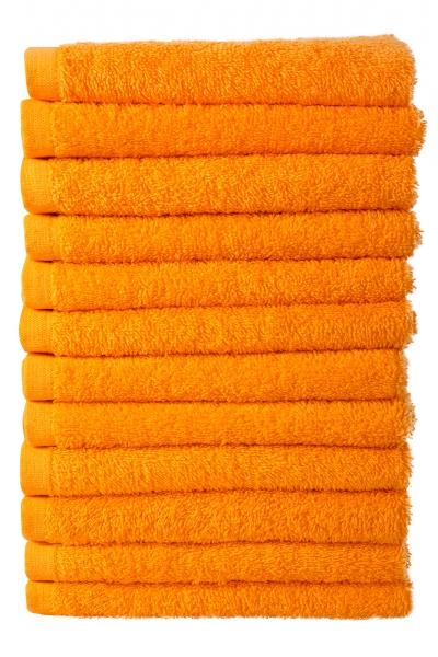 Bale Set 12pcs Orange No Border Plain Face Towel