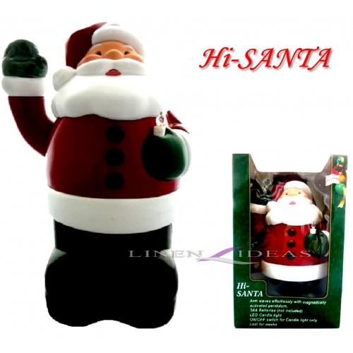 Hi Santa 'Festive Light Up Led Candle Wave Motion' Xmas Toy Christmas