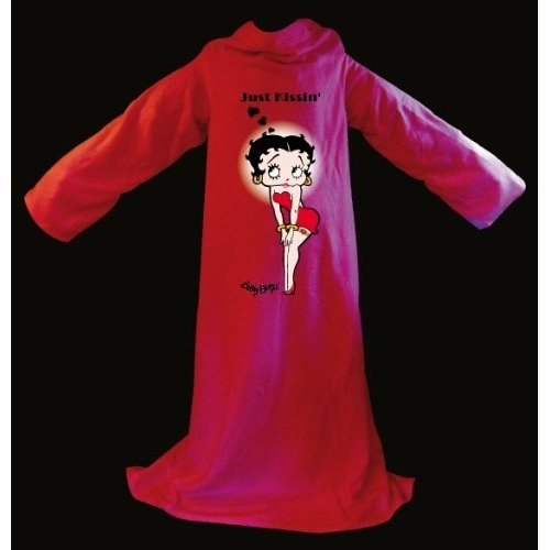 Betty Boop Just Kissing Cosy Wrap Blanket Sleeved Fleece