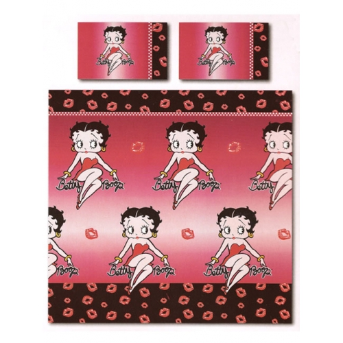 Betty Boop Kiss Rotary King Bed Duvet Quilt Cover Set