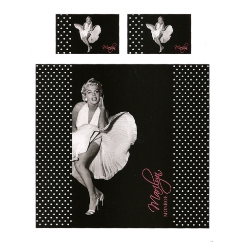 Marliyn Monroe Panel Double Bed Duvet Quilt Cover Set