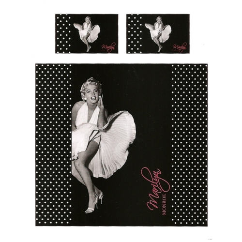 Marilyn Monroe Panel King Bed Duvet Quilt Cover Set