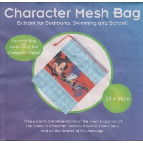 Disney Mickey Mouse Pull String School Mesh Bag
