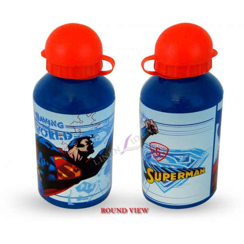 Superman Saving The World Aluminum Water Bottle