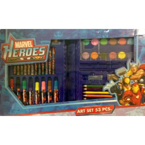 Marvel Heroes 53pcs Art Set Stationery