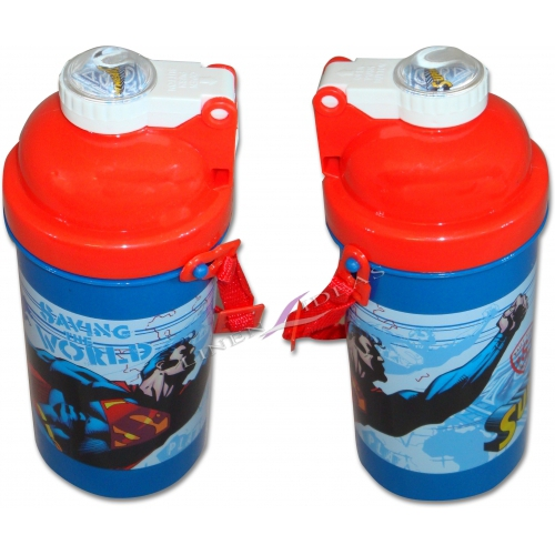Superman Saving The World Flip Top Flask Bottle