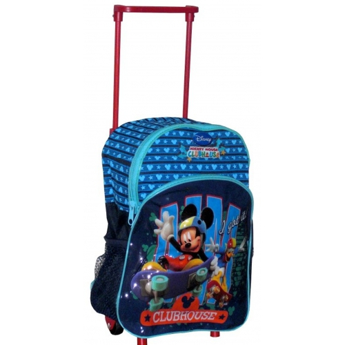 Disney Mickey Mouse 'Clubhouse' Junior Deluxe School Travel Trolley Roller Wheeled Bag