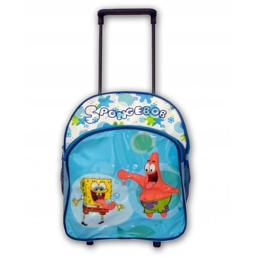 Spongebob Squarepants Junior Deluxe School Travel Trolley Roller Wheeled Bag