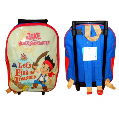 Jake and The Neverland Pirates Pvc Front Junior School Travel Trolley Roller Wheeled Bag