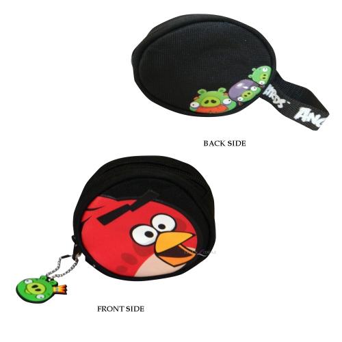 Angry Birds Black Zip Purse