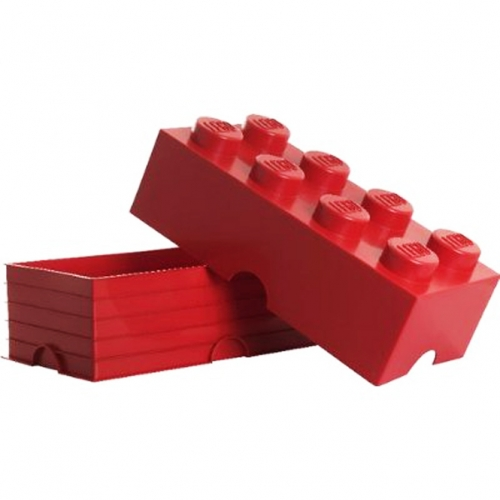 Lego Storage Brick '8 Red' Box