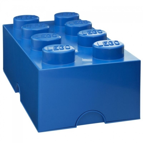 Lego Storage Brick '8 Blue' Box