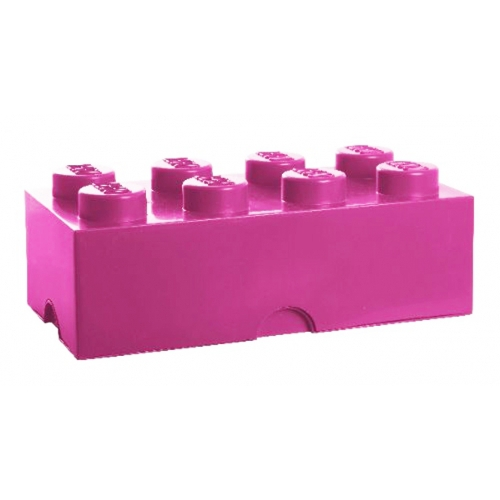 Lego Storage Brick '8 Pink' Box
