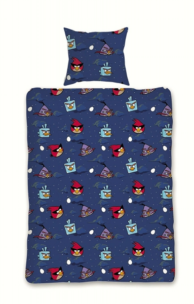 Angry Birds 'Space' Rotary Single Bed Duvet Quilt Cover Set