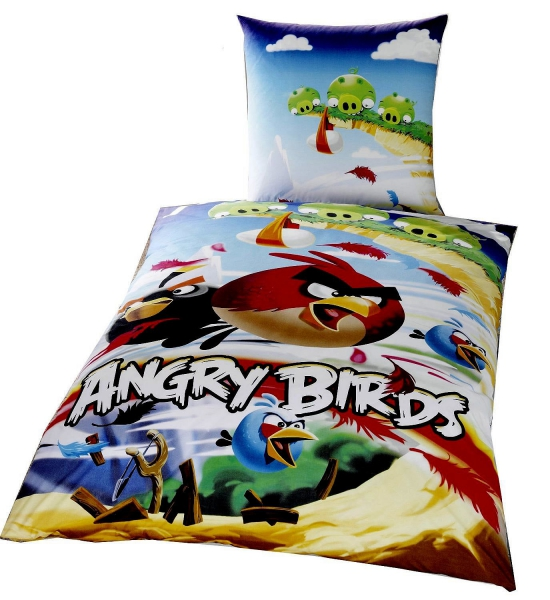 Angry Birds 'Cliffhanger' Reversible Panel Single Bed Duvet Quilt Cover Set