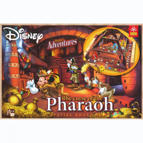 Disney Mickey'S Adventures ' The Curse of The Pharaoh' Spatial' Board Game Puzzle